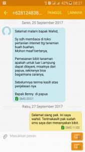 Pesanan Bibit Dari Papua