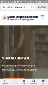 Siakad online UNTAN